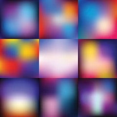 Abstract vector backgrounds set, color gradient