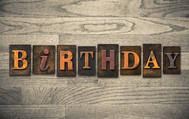 Birthday Wooden Letterpress Concept