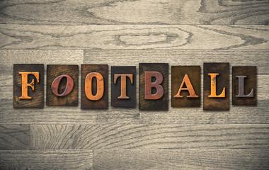 Football Wooden Letterpress Concept