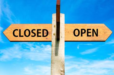 Closed versus Open