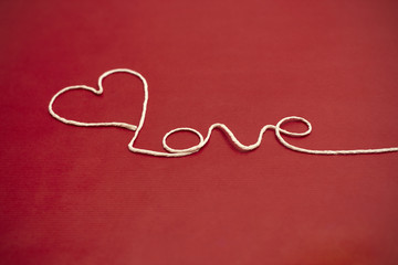 Twine yarn Love heart