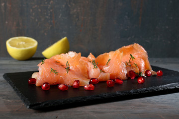 fette di salmone affumicato