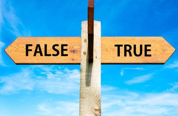 True versus False