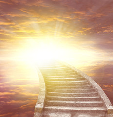 Photo sur Aluminium Escalier Stairway to heaven