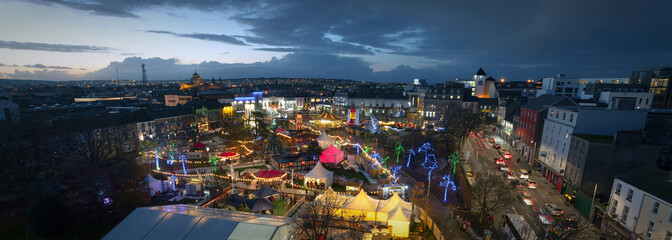 Galway Christmas Market at night