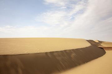 Riserva di Paracas, il deserto in Perù. Sabbia modellata