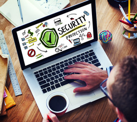 Businessman Online Internet  Security Protection Concept