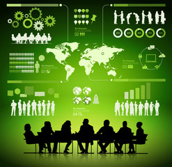 Global Business Planning Analyst Meeting Vector Concept