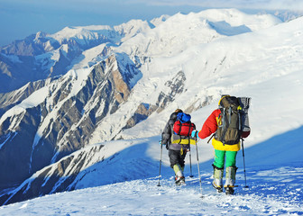 Climbers in Himalayan mountain