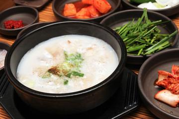 Korean Dish Dwaeji Gukbap Pork Soup Rice