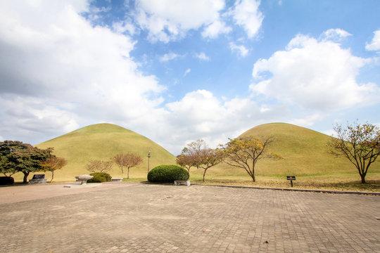 Daereungwon Tomb Park in Gyeongju Korea