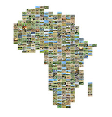 Africa map with photos