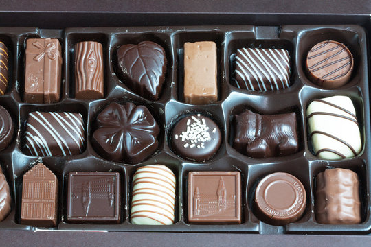 Boite de bonbons en chocolat