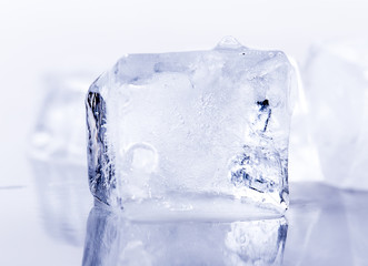 ice on white