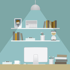 interior of work space illustration