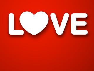 Paper white love heart.