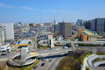 Cityscape of Niigata in Japan