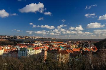 Nusle Bridge From Vysehrad-Prague,Czech Republic