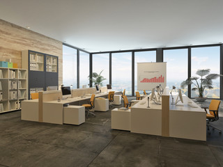 Large open-plan commercial office