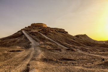 Zoroastrian Tower of Silence in Yazd Iran