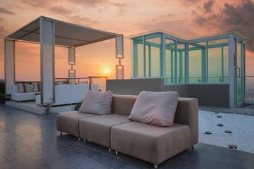 Relax coner on condominium roof top garden