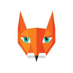 Fox logo. Animal fox vector illustration.