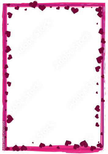 rosa rahmen mit herzen stockfotos und lizenzfreie vektoren auf bild 76321356. Black Bedroom Furniture Sets. Home Design Ideas