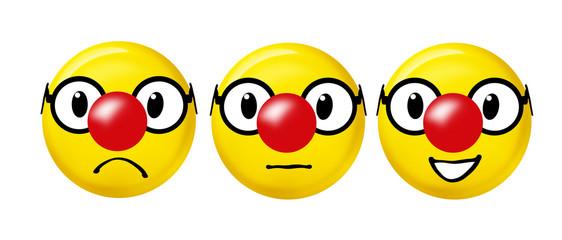 Smiley mit Clownnase
