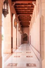 Court yard of Sultan Qaboos Mosque, Muscat, Oman