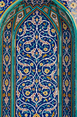 Mosaic tiles in Sultan Qaboos mosque, Muscat, Oman