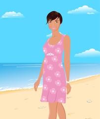 beautifu girl on beach