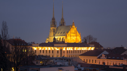 Night picture of the Cathedral of St. Peter and Paul