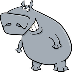 hippopotamus cartoon illustartion