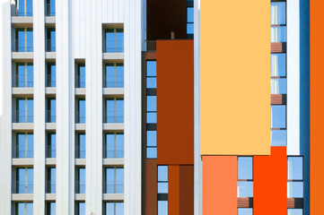 rhythm and color are the new architectural motifs in milan . Mod