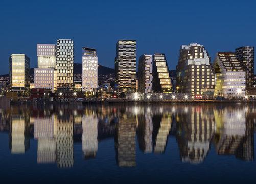Oslo Skyline by night 2015