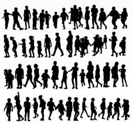 collection of children silhouettes