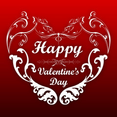 happy valentines day. Vector Background