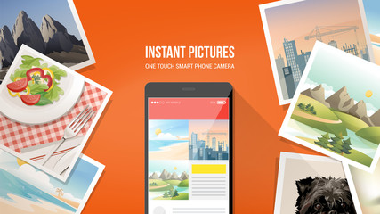 Instant pictures