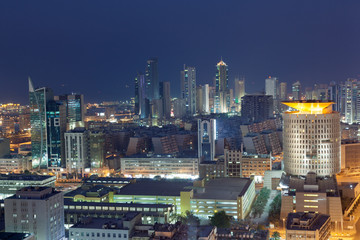 Foto op Aluminium Las Vegas View of Kuwait City at night, Middle East