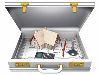 home and briefcase