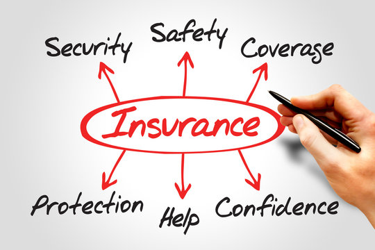 Insurance Diagram, Protection Coverage And Security