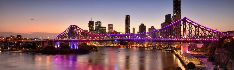 Poster Salmon The Story Bridge in Brisbane, QLD - Australia.