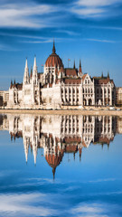 Printed kitchen splashbacks Budapest Parliament with Danube river in Budapest, Hungary