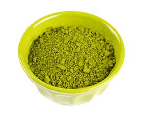 powdered green tea Matcha in a bowl