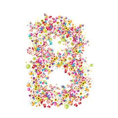 Floral letter B for your design.