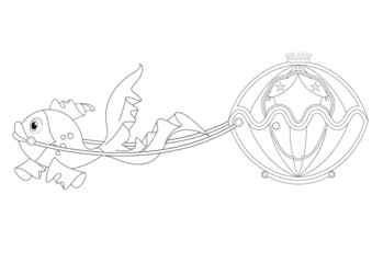 Beautiful fairytale carriage Coloring Book Page
