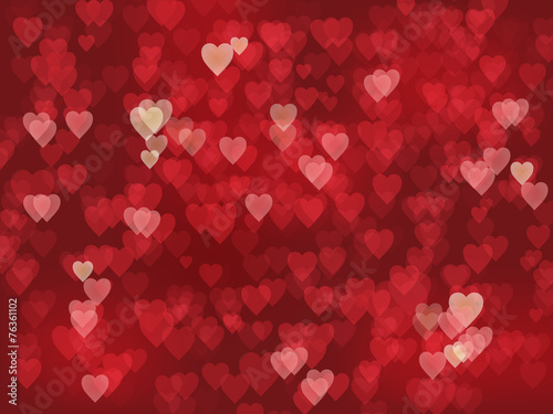 Hearts Background Lights Texture Valentine S Day Stock Image And