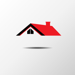House Real Estate red roof logo design