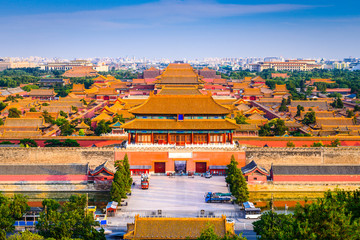 Spoed Fotobehang Peking Forbidden City of Beijing, China