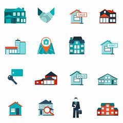 Real Estate Icon Flat